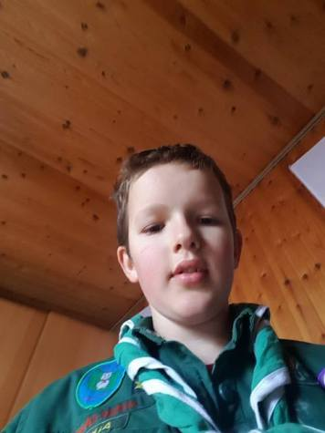Tobias med selfie